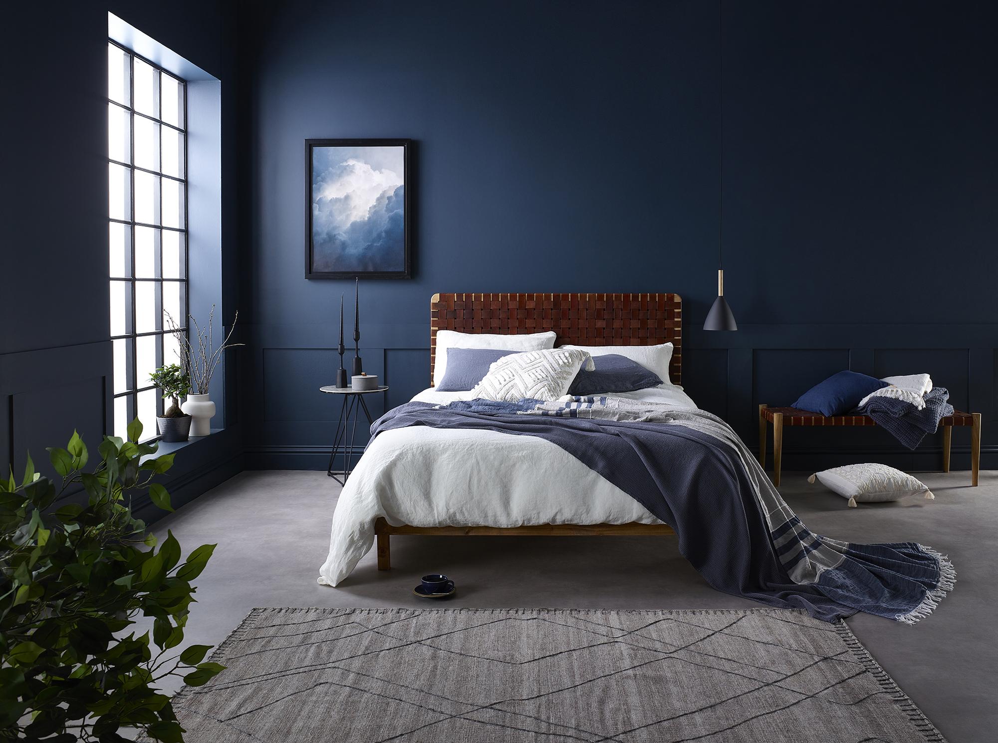 Cool blue tones of a bedroom: improving Memory Foam Warehouse's brand creative