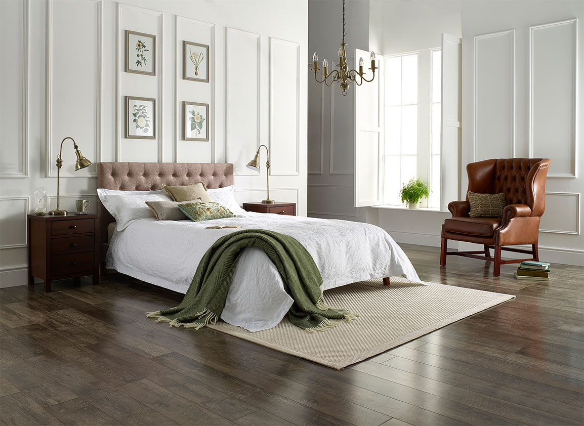 Shades of neutrals and greens: Memory Foam Warehouse's mattress