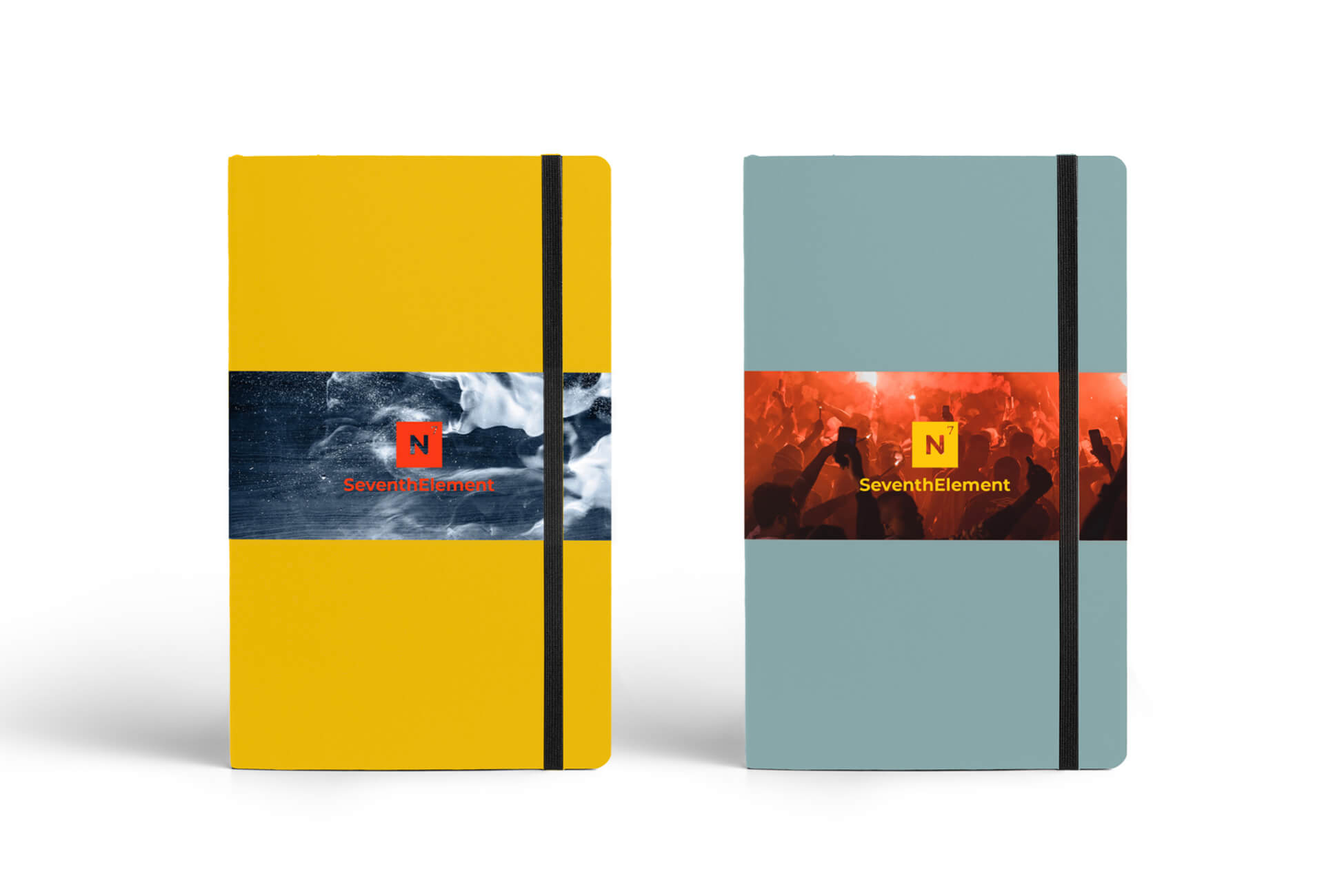 Powerful imagery used on our branded notebooks