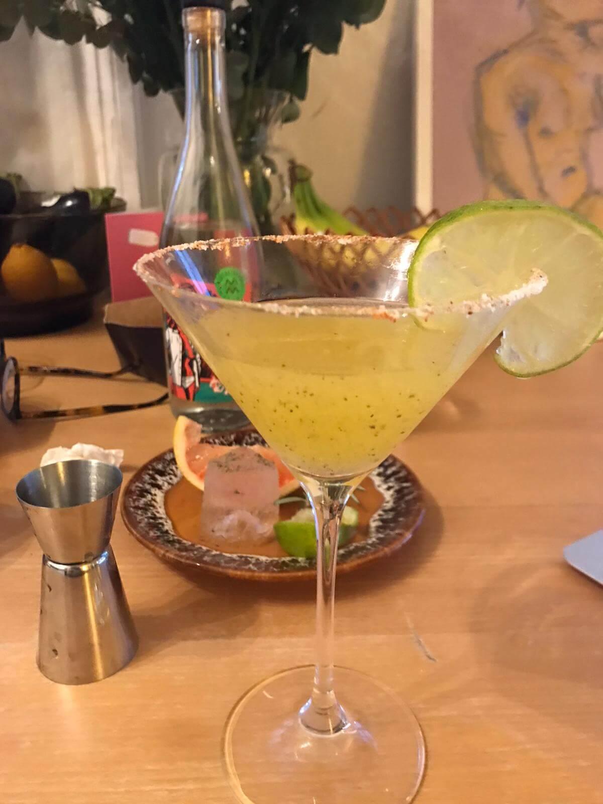 Mango margarita cocktail