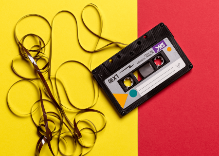 Cassette Tape with Unwound Tape Reel