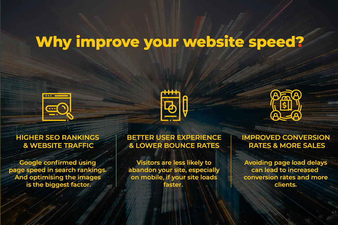 'Why improve your website speed' infographic