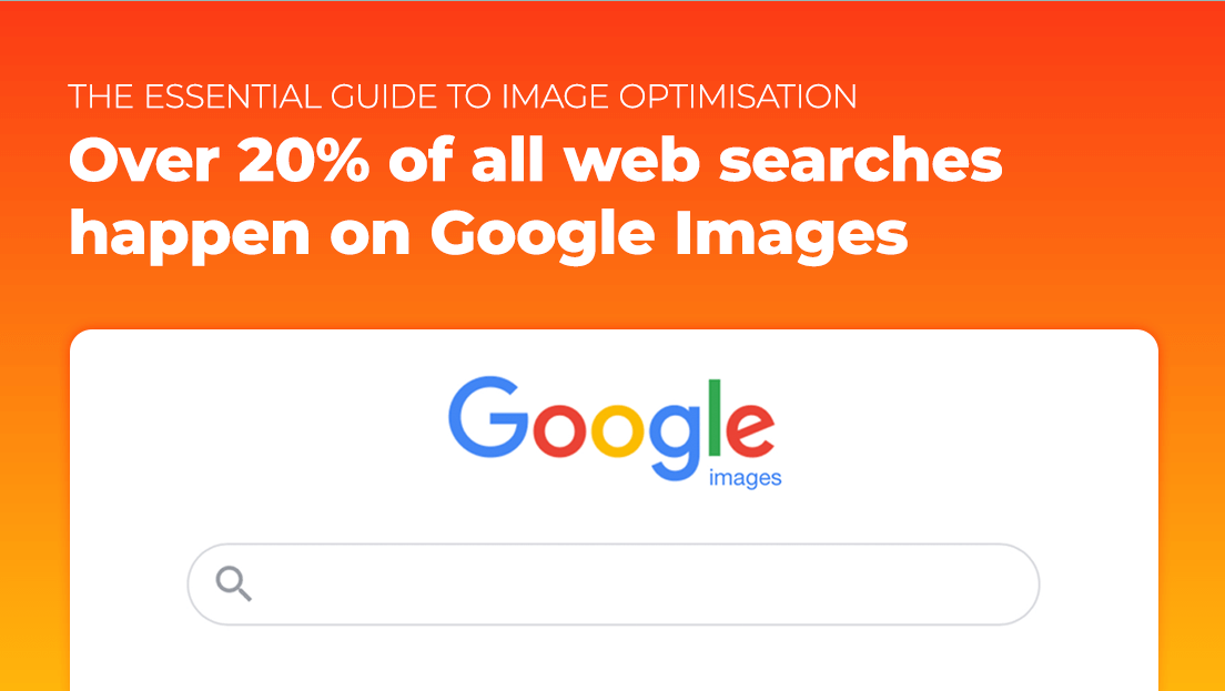 '20% of all web searches happen on Google images' infographic