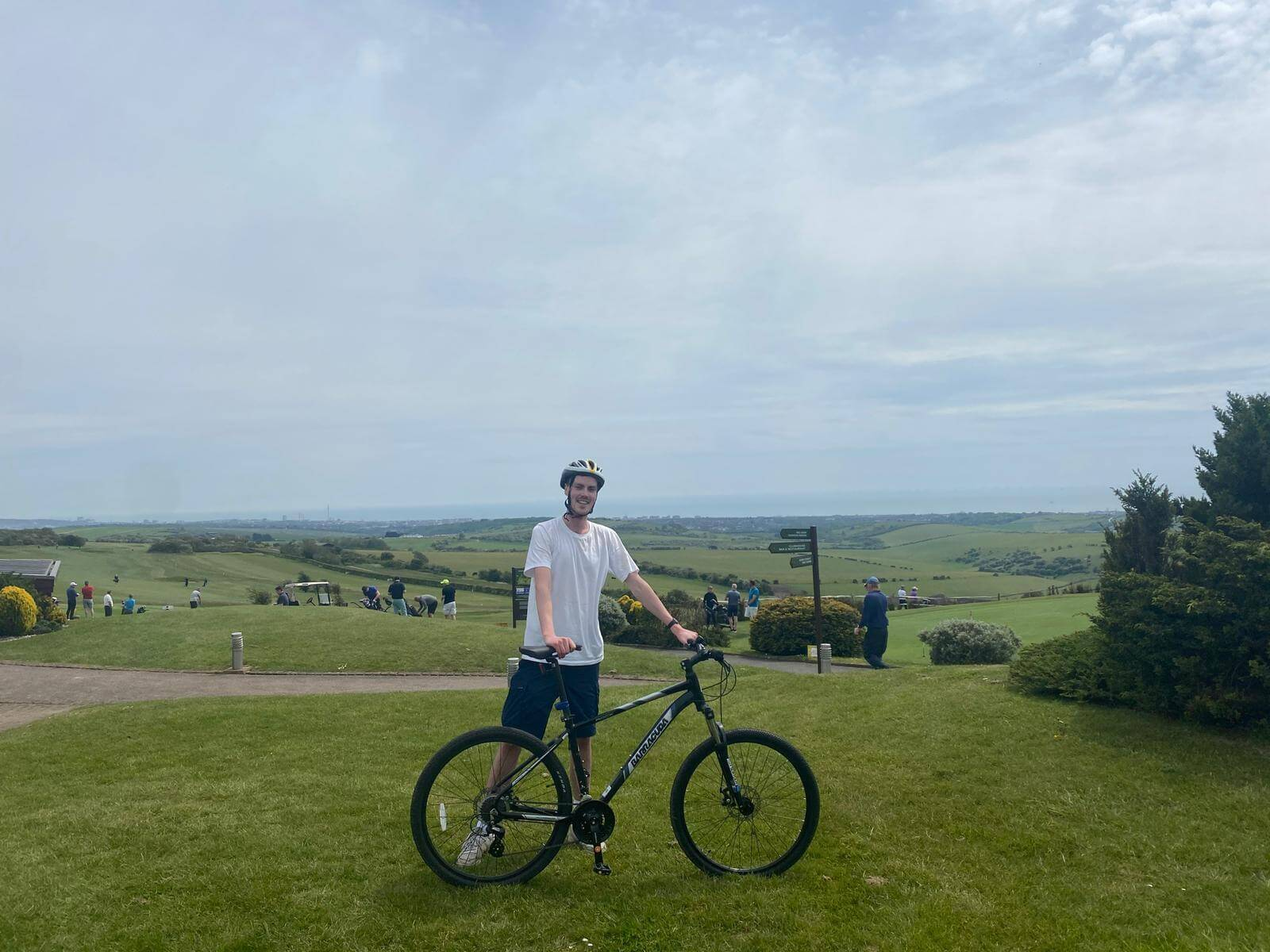 Rory and bike in the countryside